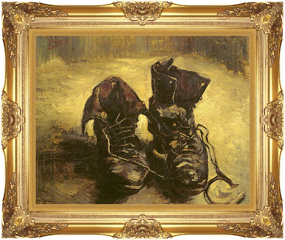 Vincent van Gogh A Pair of Shoes 1886 with Majestic Gold Frame