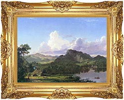 Frederic Edwin Church Home By The Lake canvas with Majestic Gold frame