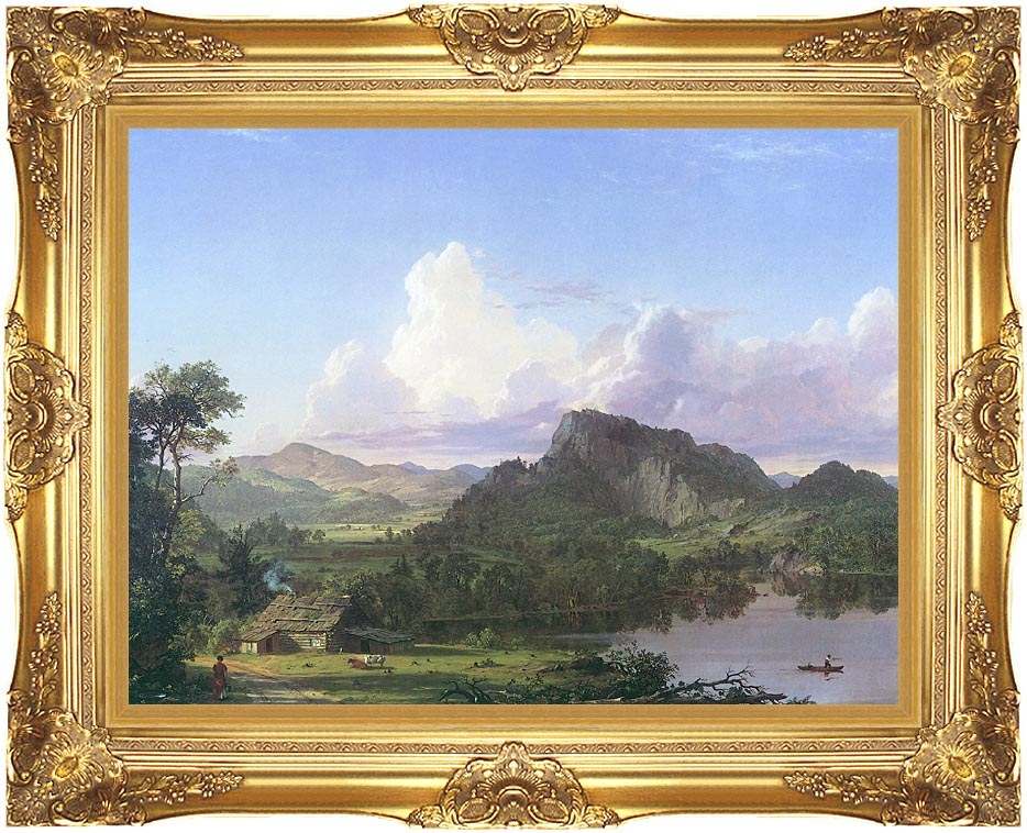 Frederic Edwin Church Home by the Lake with Majestic Gold Frame