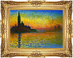 Claude Monet San Giorgio Maggiore At Dusk Venice canvas with Majestic Gold frame