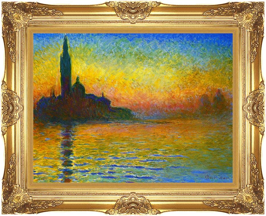 Claude Monet San Giorgio Maggiore at Dusk, Venice with Majestic Gold Frame