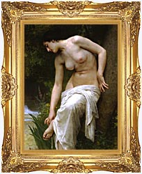 William Bouguereau Woman After The Bath canvas with Majestic Gold frame
