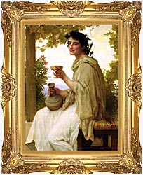 William Bouguereau Bacchante canvas with Majestic Gold frame