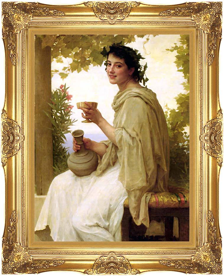 William Bouguereau Bacchante with Majestic Gold Frame