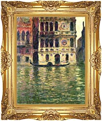 Claude Monet Palazzo Dario canvas with Majestic Gold frame