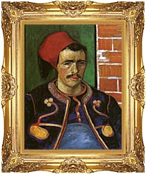 Vincent Van Gogh The Zouave canvas with Majestic Gold frame