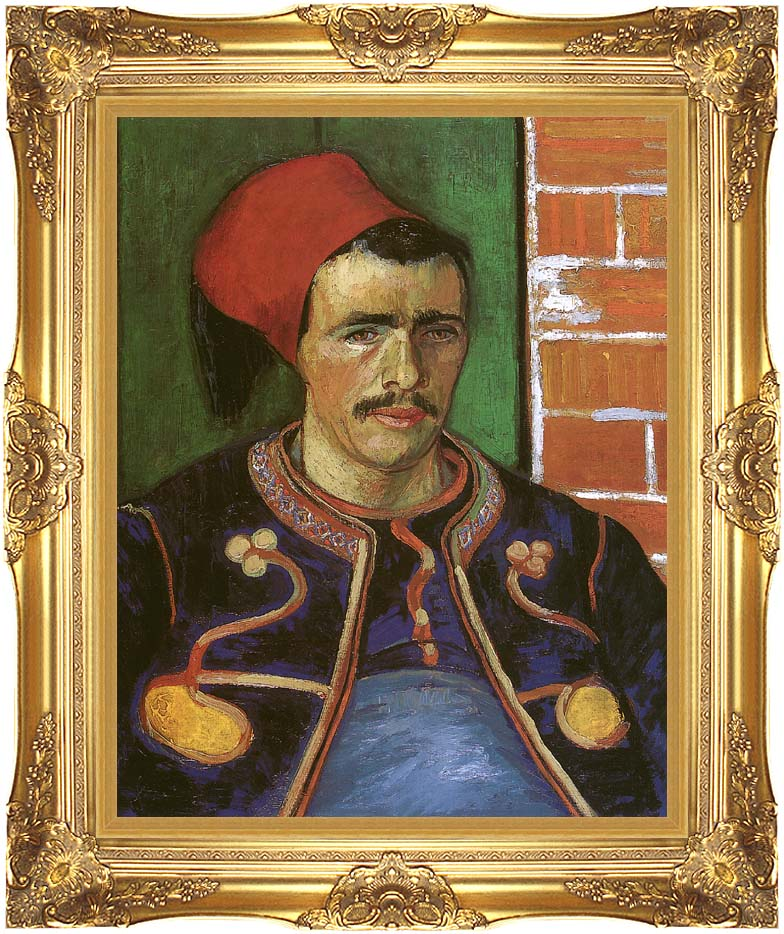 Vincent van Gogh The Zouave with Majestic Gold Frame