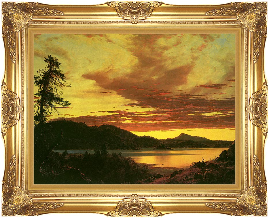 Frederic Edwin Church Sunset (detail) with Majestic Gold Frame