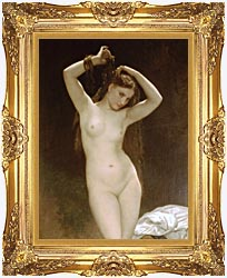William Bouguereau Bather canvas with Majestic Gold frame
