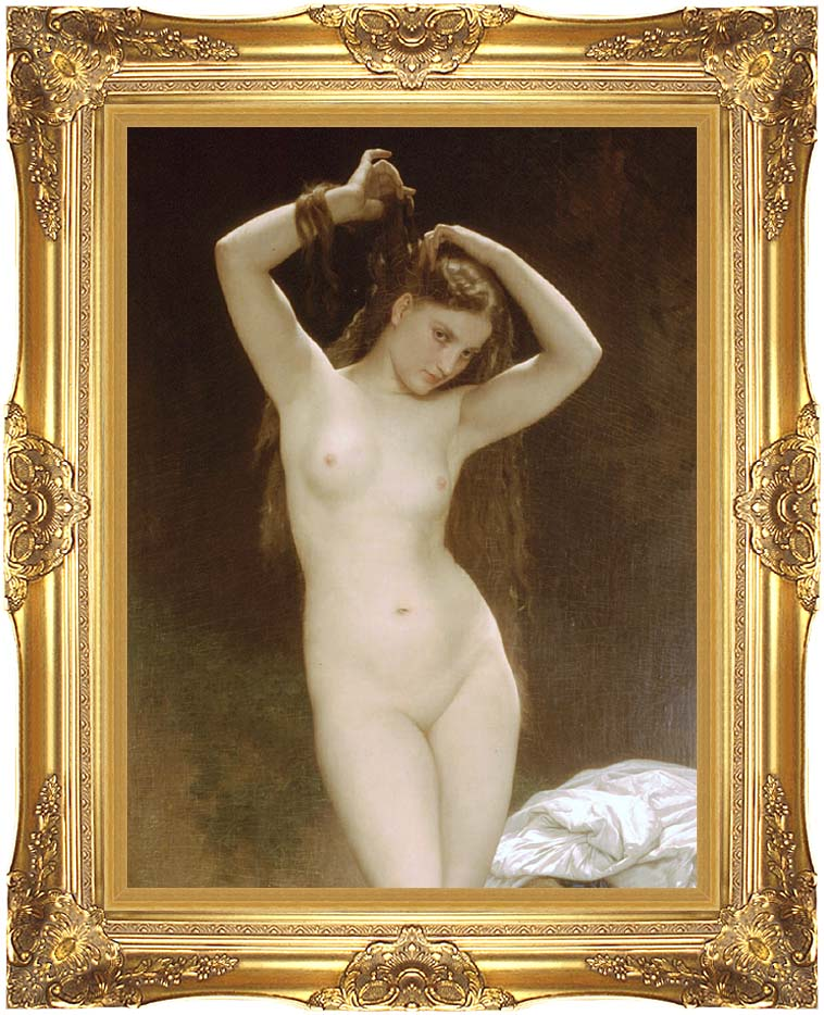 William Bouguereau Bather with Majestic Gold Frame
