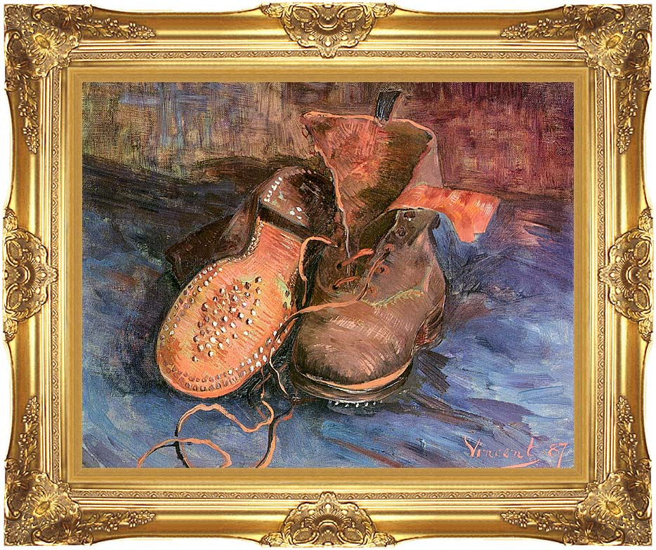 Vincent van Gogh A Pair of Shoes with Majestic Gold Frame