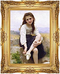 William Bouguereau Before The Bath canvas with Majestic Gold frame