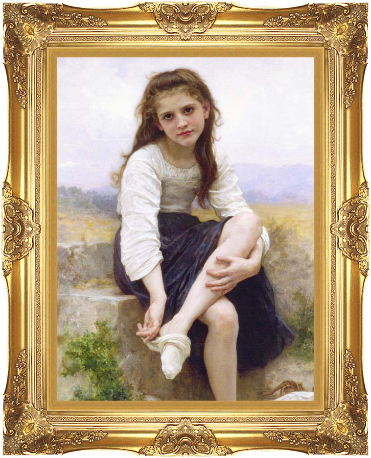 William Bouguereau Before the Bath with Majestic Gold Frame