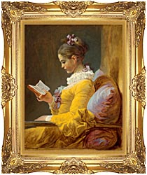 Jean Honore Fragonard Framed Young Girl Reading