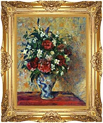 Camille Pissarro Vase Of Flowers canvas with Majestic Gold frame