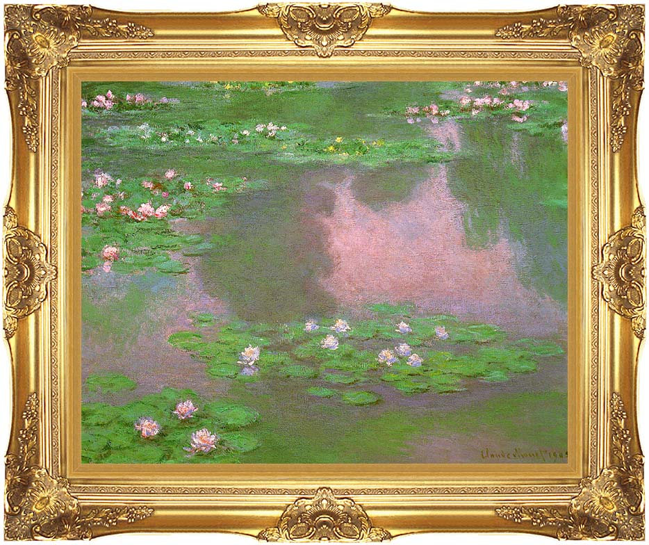 Claude Monet Water-Lilies 1905 (detail) with Majestic Gold Frame