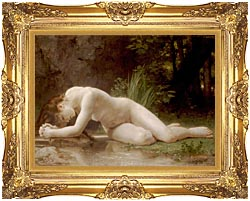 William Bouguereau Biblis canvas with Majestic Gold frame