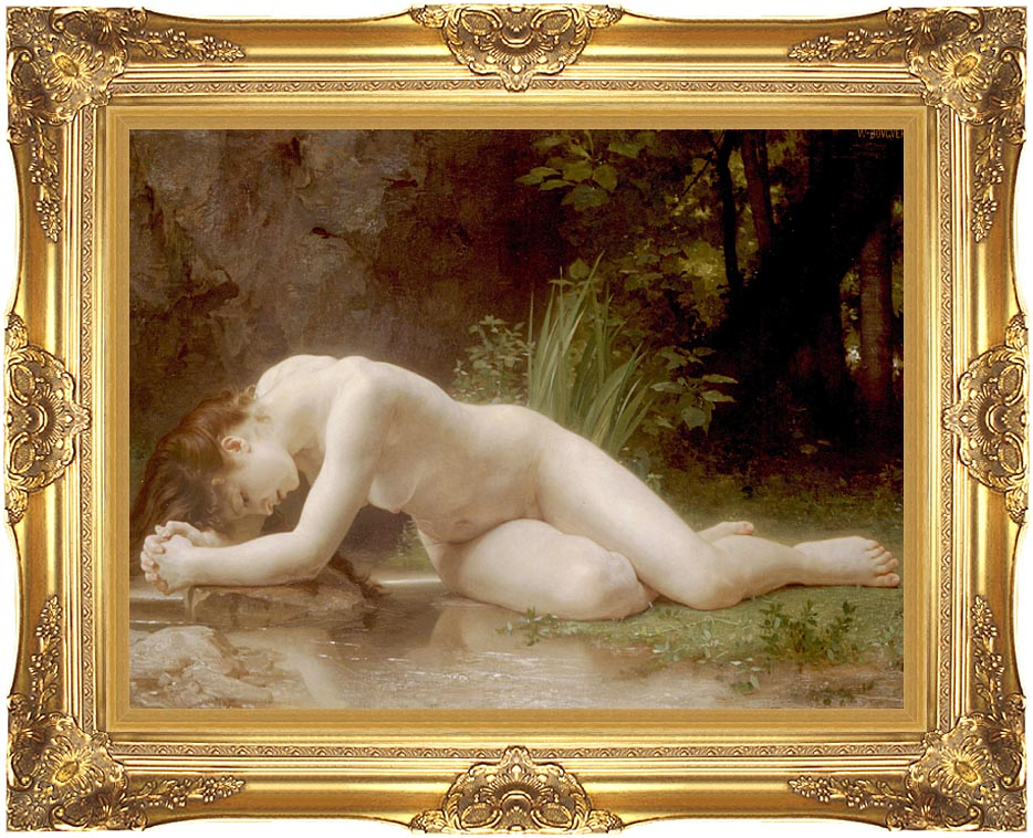 William Bouguereau Biblis with Majestic Gold Frame
