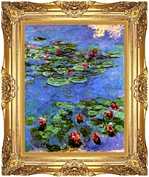 Claude Monet Water Lilies 1914 canvas with Majestic Gold frame
