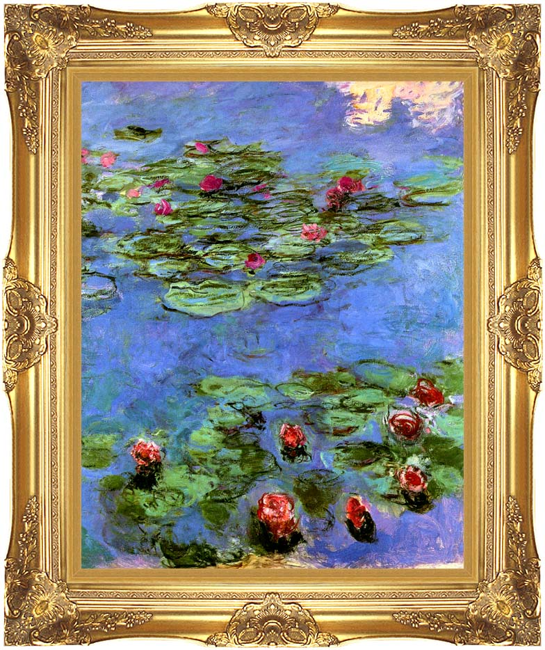 Claude Monet Water-Lilies 1914 with Majestic Gold Frame