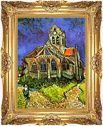 Vincent Van Gogh The Church At Auvers canvas with Majestic Gold frame