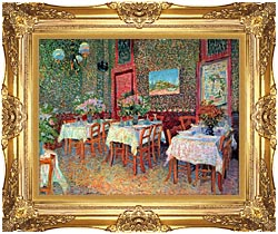 Vincent Van Gogh Interior Of A Restaurant canvas with Majestic Gold frame