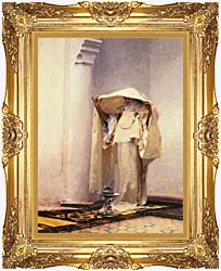 John Singer Sargent Fumee Dambre Gris canvas with Majestic Gold frame