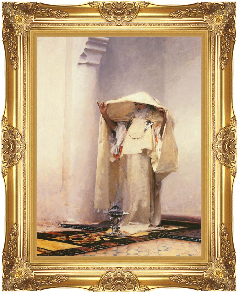 John Singer Sargent Fumee d'Ambre Gris with Majestic Gold Frame