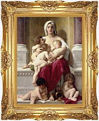 William Bouguereau Charity canvas with Majestic Gold frame