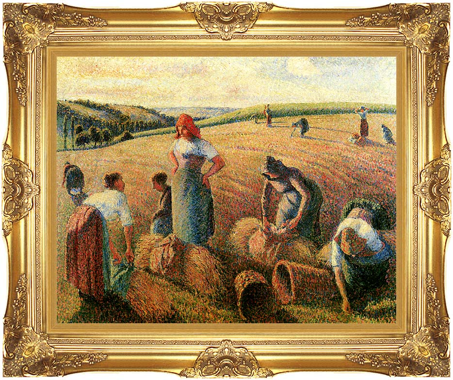 Camille Pissarro The Gleaners with Majestic Gold Frame