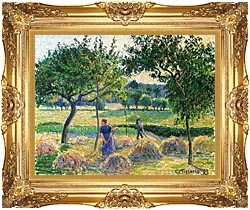 Camille Pissarro Bountiful Harvest canvas with Majestic Gold frame