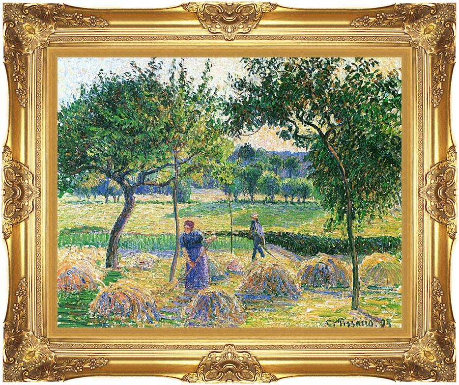 Camille Pissarro Bountiful Harvest with Majestic Gold Frame