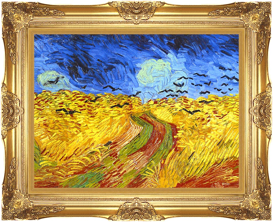 Vincent van Gogh Wheat Field with Crows (detail) with Majestic Gold Frame