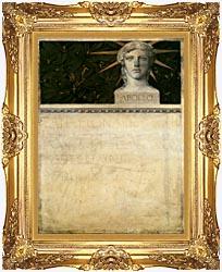 Gustav Klimt Poster Design International Exhibition canvas with Majestic Gold frame