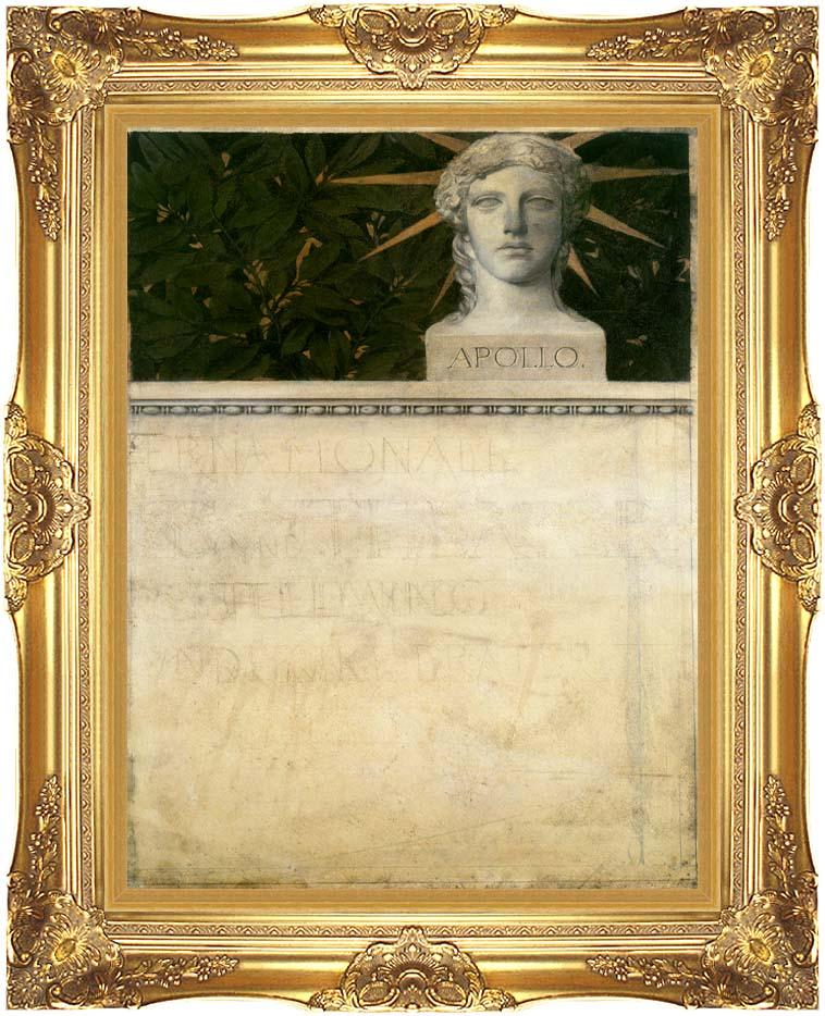 Gustav Klimt Poster Design, International Exhibition with Majestic Gold Frame
