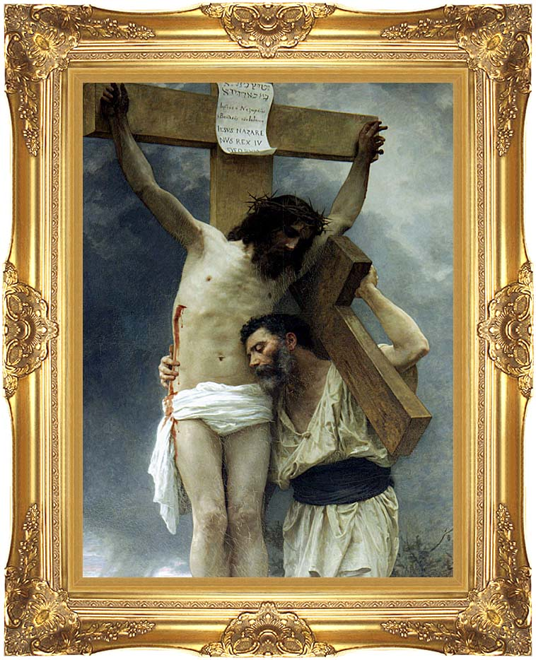 William Bouguereau Compassion with Majestic Gold Frame