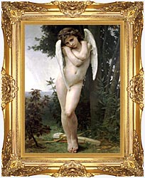 William Bouguereau Cupidon canvas with Majestic Gold frame
