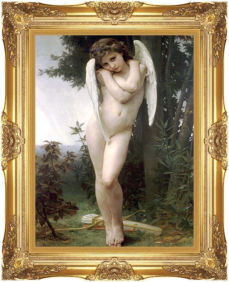 William Bouguereau Cupidon with Majestic Gold Frame