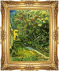 Vincent Van Gogh The Garden Of Saint Paul Hospital canvas with Majestic Gold frame