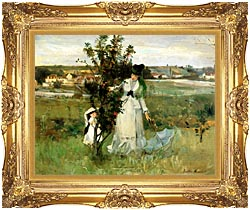 Berthe Morisot Hide And Seek canvas with Majestic Gold frame