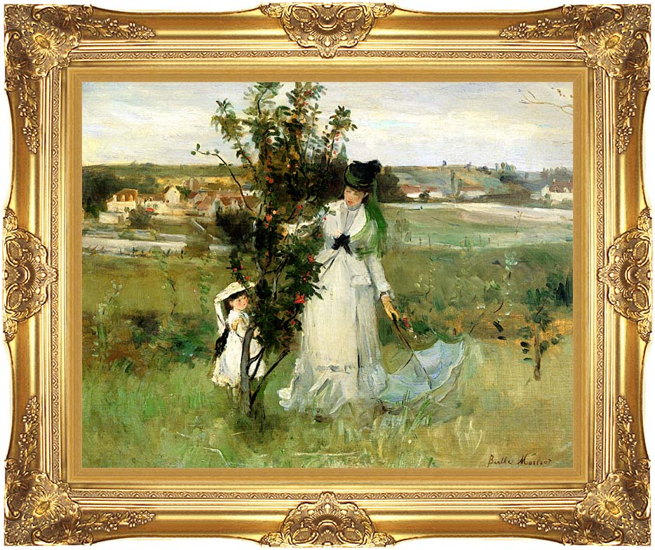 Berthe Morisot Hide and Seek with Majestic Gold Frame
