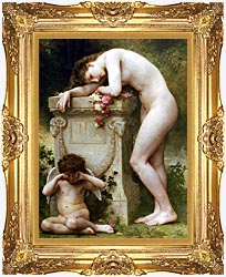 William Bouguereau Elegy canvas with Majestic Gold frame