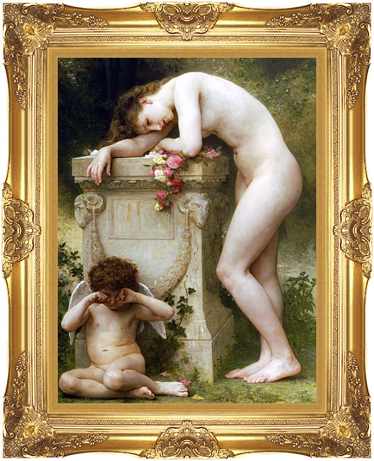 William Bouguereau Elegy with Majestic Gold Frame