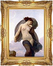 William Bouguereau Evening Mood canvas with Majestic Gold frame