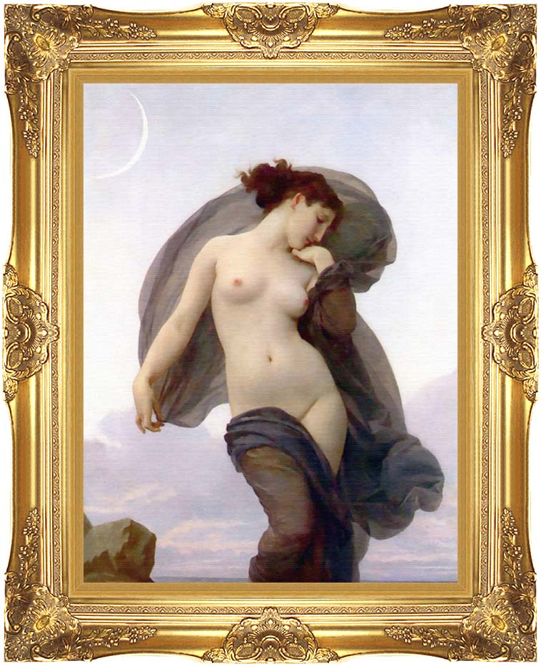 William Bouguereau Evening Mood with Majestic Gold Frame