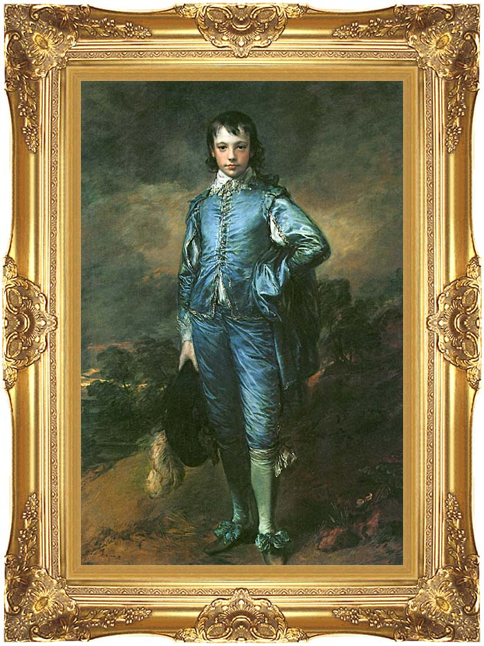 Thomas Gainsborough The Blue Boy with Majestic Gold Frame