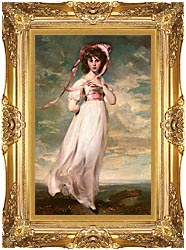 Thomas Lawrence Pinkie canvas with Majestic Gold frame