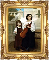 William Bouguereau Far From Home canvas with Majestic Gold frame