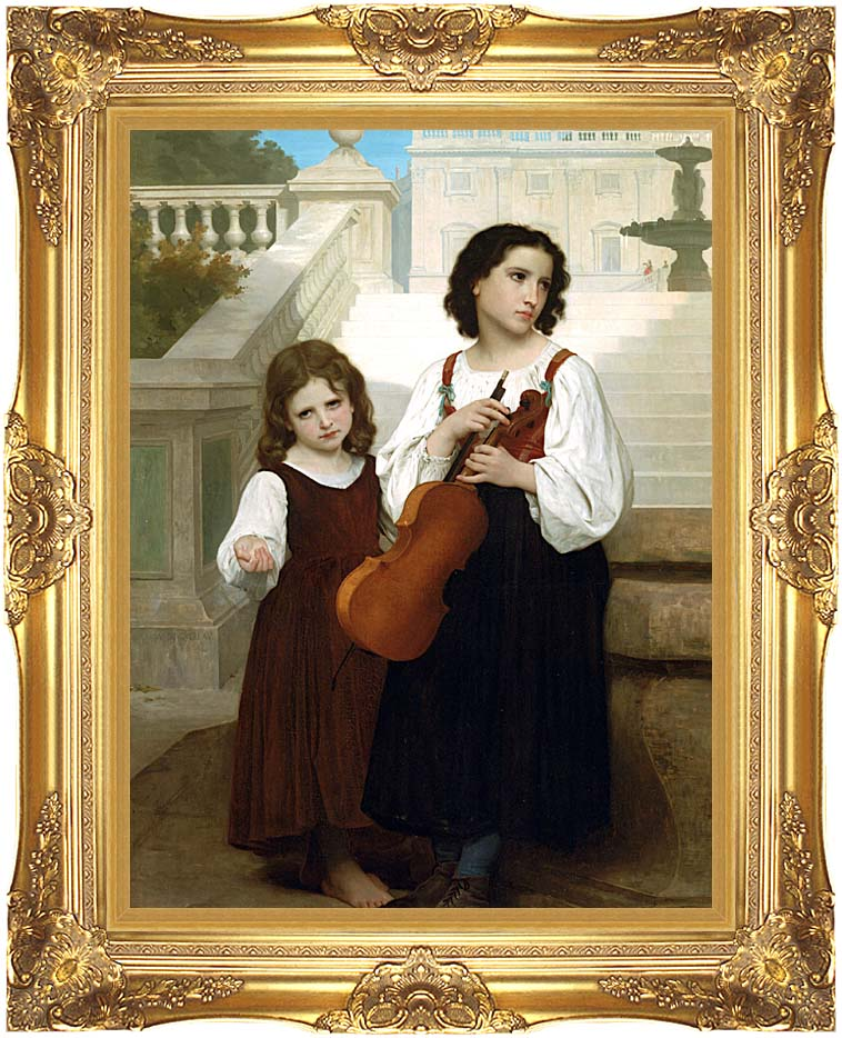 William Bouguereau Far from Home with Majestic Gold Frame