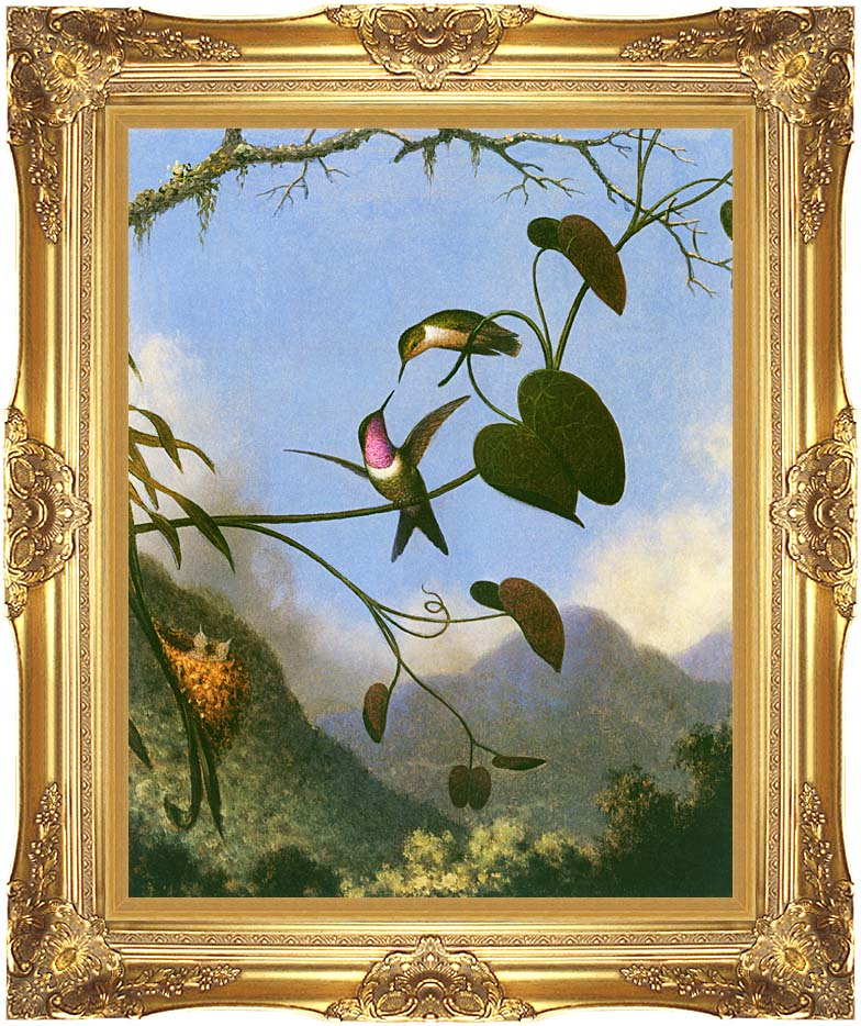 Martin Johnson Heade Amethyst Woodstar with Majestic Gold Frame